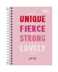 edaac8ac7df36 imagem principal do produto Caderneta Capa Dura 1 8 Love Pink 80 Folhas ...