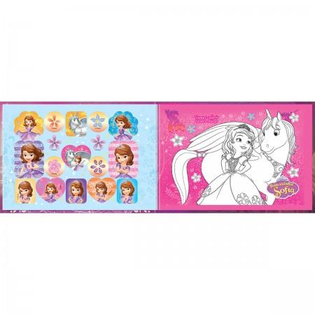 caderno brochura capa dura desenho princesinha sofia 40 folhas