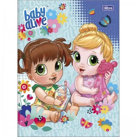 Caderno Brochura Capa Dura Universitario Baby Alive 80 Folhas