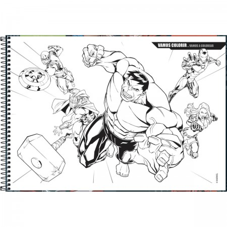 Caderno De Cartografia E Desenho Espiral Capa Dura Avengers 80