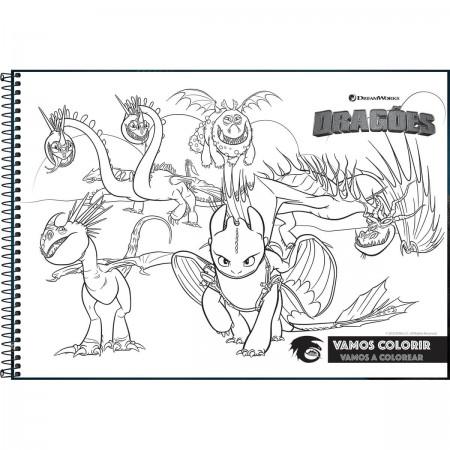 Caderno De Cartografia E Desenho Espiral Capa Dura Dragoes 80