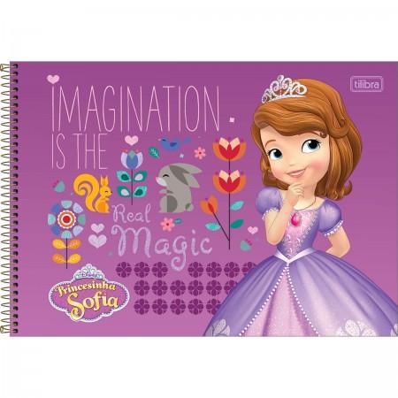 Caderno De Cartografia E Desenho Espiral Capa Dura Princesinha