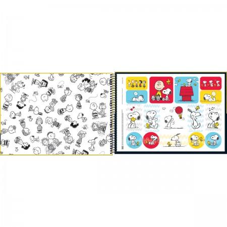 Caderno De Cartografia E Desenho Espiral Capa Dura Snoopy 80