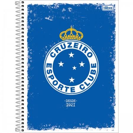 Foto ilustrativa Caderno Espiral Capa Dura Universitário 1 Matéria Clube de Futebol  Cruzeiro 80 Folhas 0bf85205b779b