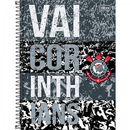 Foto ilustrativa Caderno Espiral Capa Dura Universitário 10 Matérias Clube  de Futebol Corinthians 160 Folhas d09c9b69f0b63