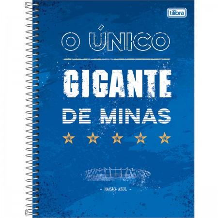 Foto ilustrativa Caderno Espiral Capa Dura Universitário 10 Matérias Clube  de Futebol Cruzeiro 160 Folhas 2d9d6e5a22a74