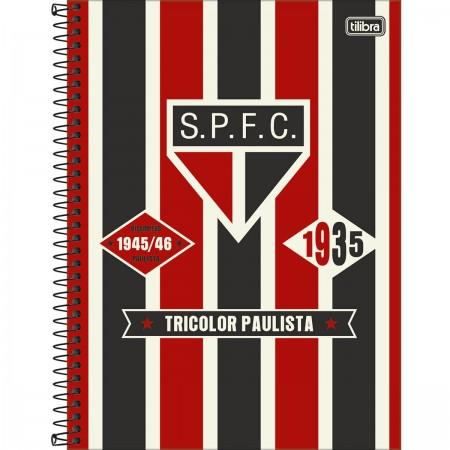 Foto ilustrativa Caderno Espiral Capa Dura Universitário 10 Matérias Clube  de Futebol São Paulo 160 Folhas 7ef37fc2e5049