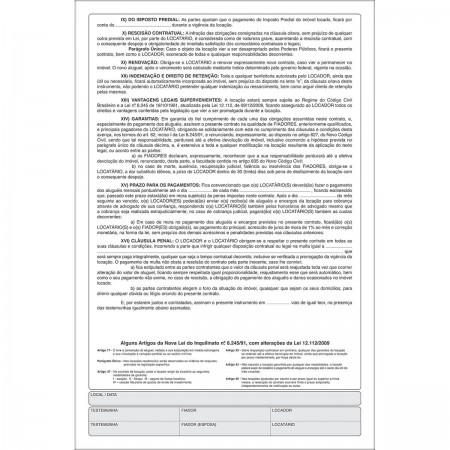 Contrato De Locação 100 Folhas Tilibra Escritório