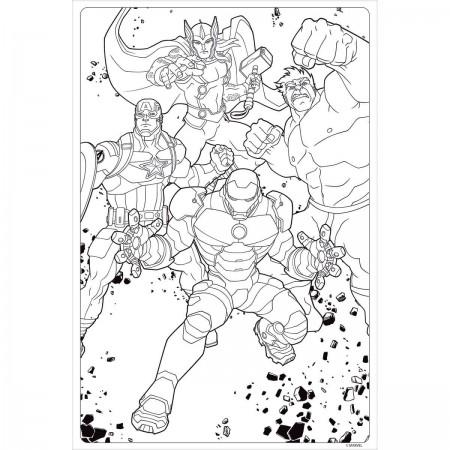 Desenhos Para Colorir Dos Super Herois Da Marvel Captain