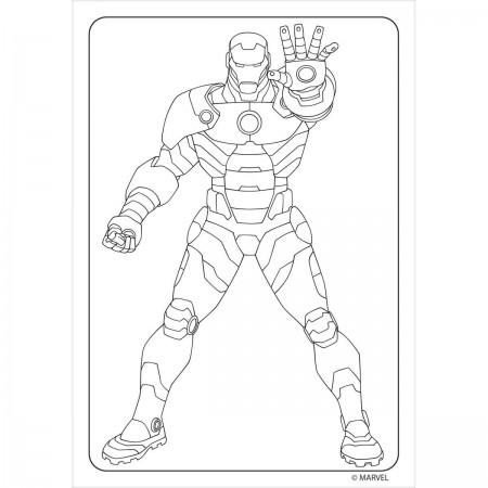 Folhas para Colorir Mini com Giz de Cera Avengers - 80